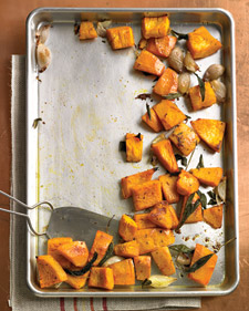"""Roasted Pumpkin with Shallots and Sage."""
